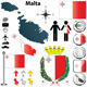 Malta Map - GraphicRiver Item for Sale