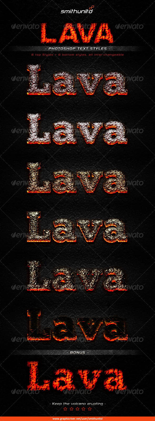 GraphicRiver Lava Text Styles 3957549