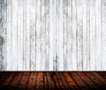 Empty room interior with white and brown wood planks - PhotoDune Item for Sale