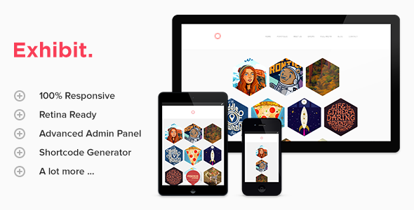 Exhibit - Retina Responsive Wordpress Theme