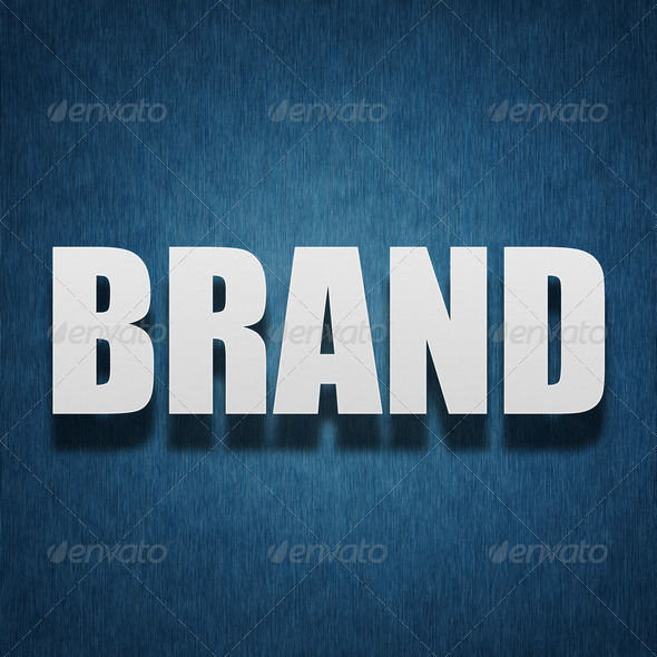 Brand concept - paper letters on textile - Stock Photo - Images