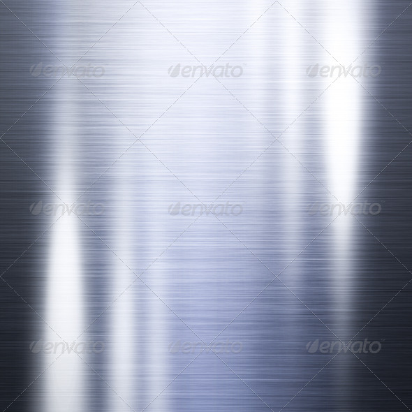 Brushed steel metal plate - Stock Photo - Images