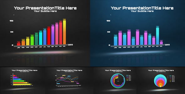 Graph Bars Annual Video Infographics