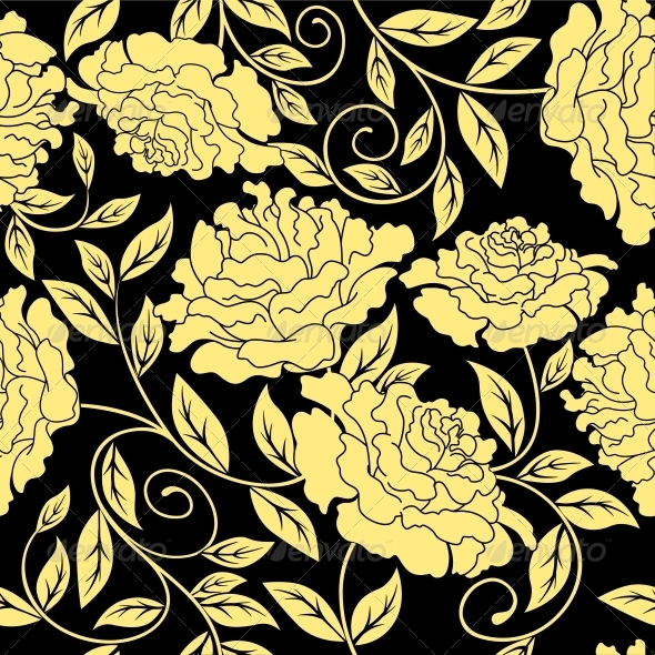 Floral Seamless in Abstract Style - Patterns Decorative