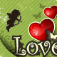 Love Heart and Decorations, Vintage Green Background - GraphicRiver Item for Sale