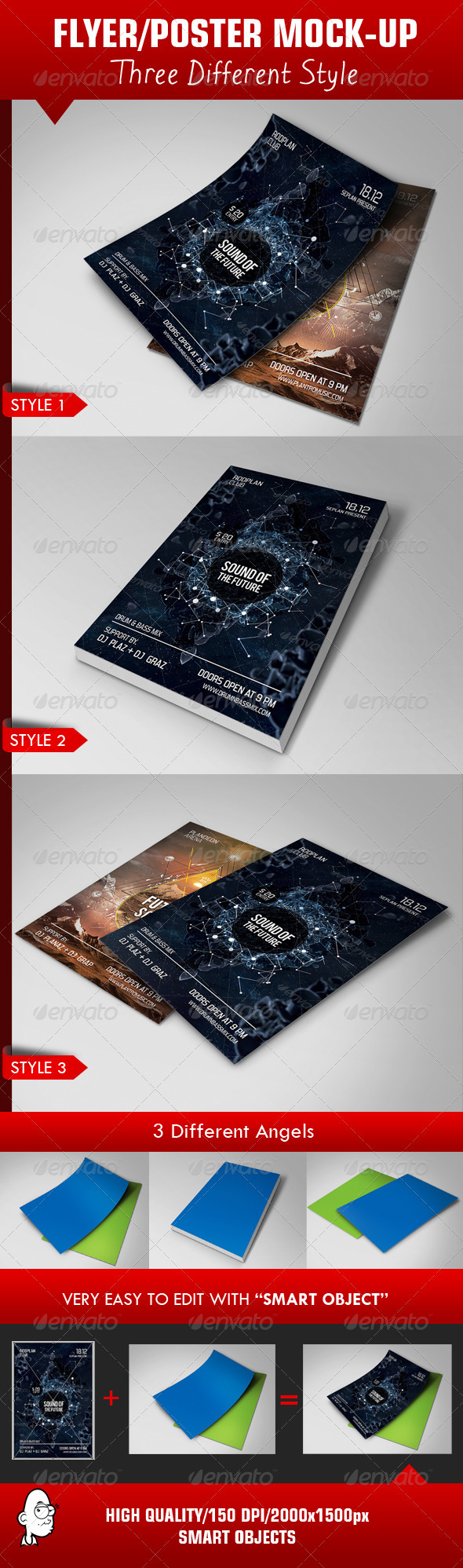 GraphicRiver Flyer Poster Mock-up Template 3962254