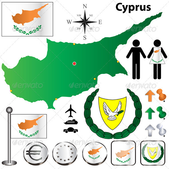 GraphicRiver Cyprus Map 3799698