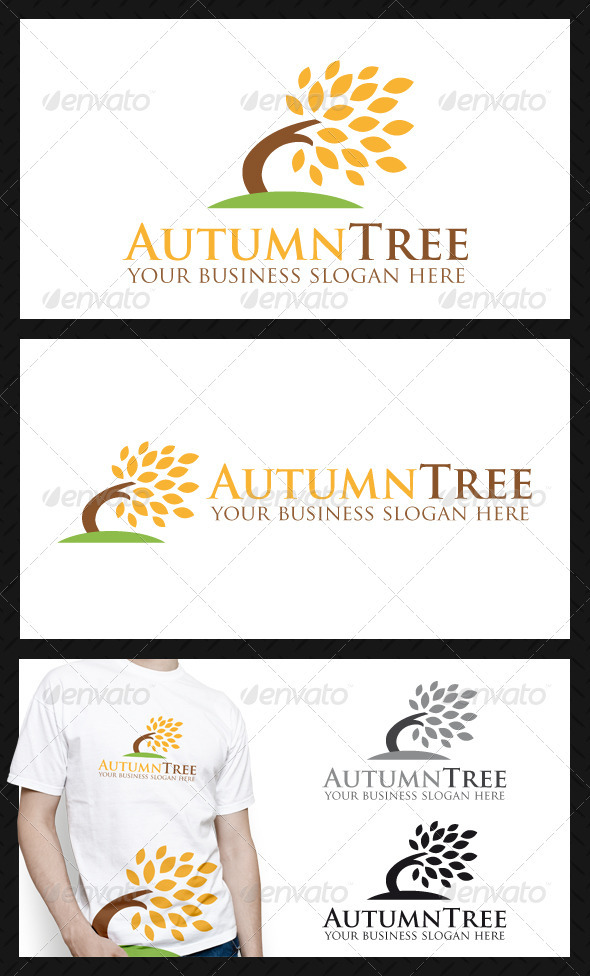 GraphicRiver Autumn Tree Logo Template 3846978