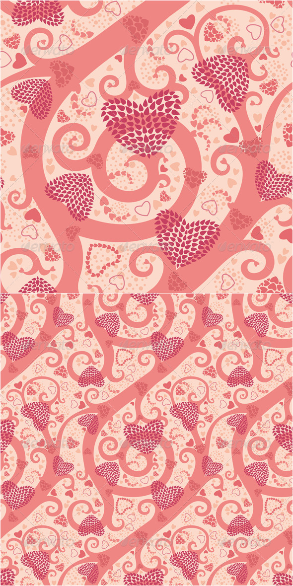 Valentine Seamless Pattern - Abstract Textures / Fills / Patterns