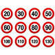 Speed Limit Sign Set - GraphicRiver Item for Sale
