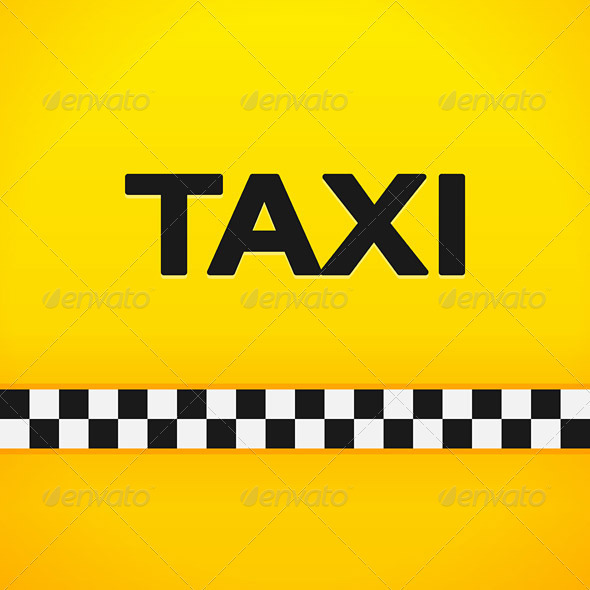GraphicRiver Taxi Word on Yellow Background 3964252