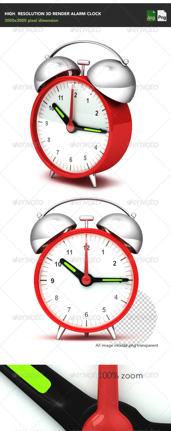 GraphicRiver Alarm Clock 3965208