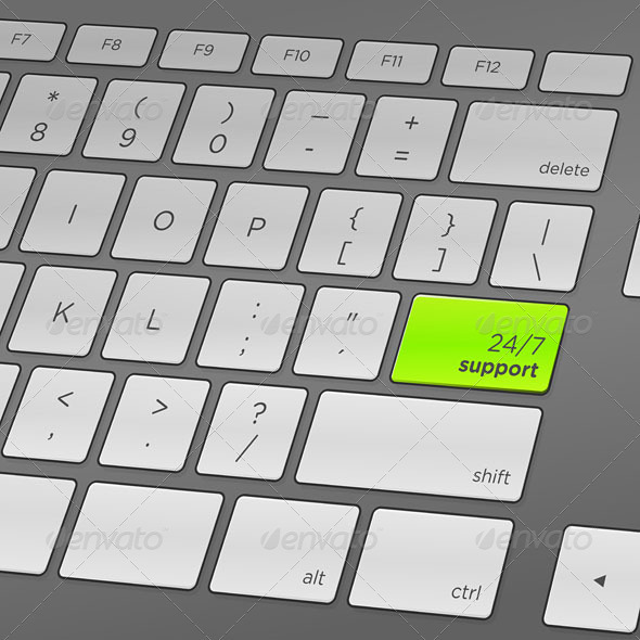 GraphicRiver Support Keyboard 3965460