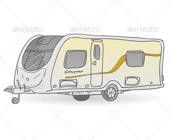GraphicRiver Towing Caravan 3965468