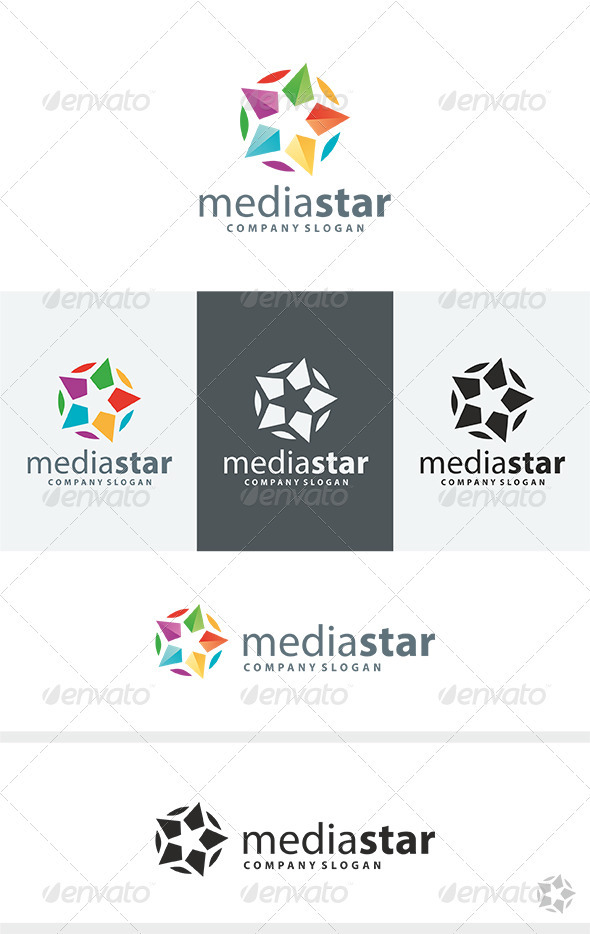 GraphicRiver Media Star Logo 3855280