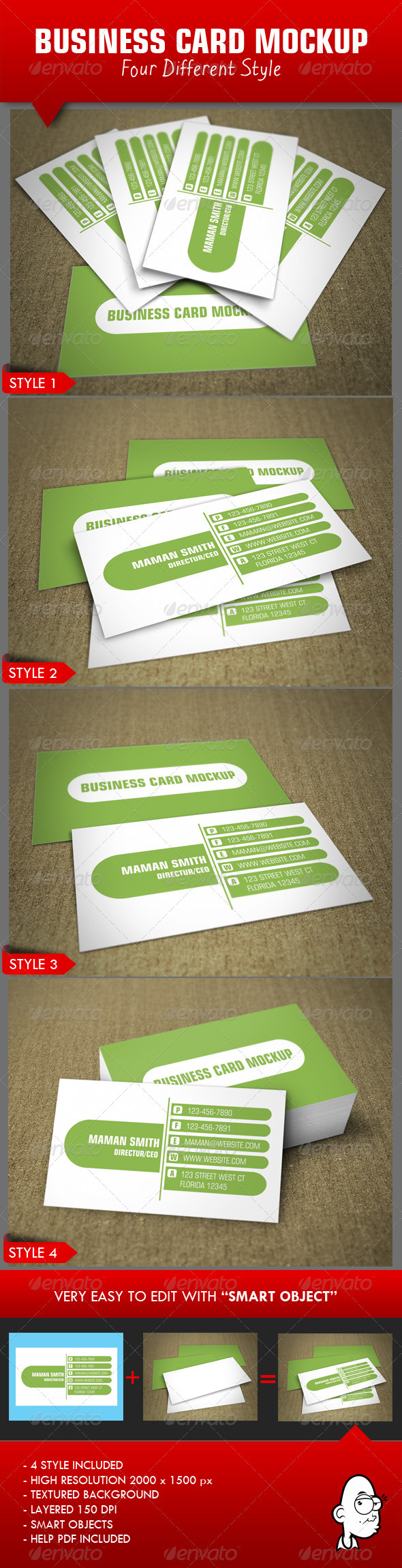 GraphicRiver Business Card Mockup 3965838