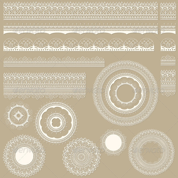 GraphicRiver Vector Lacy Vintage Design Elements 3965988