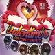 Valentine's Love Connection Party Flyer - GraphicRiver Item for Sale