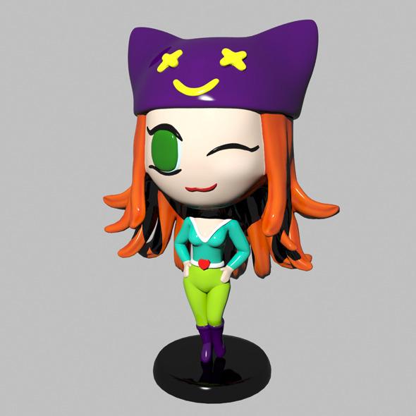 3DOcean Chibi Girl 3967315