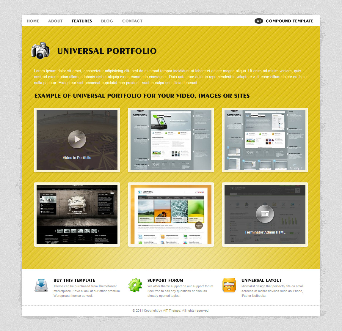 Compound - Minimalist Business & Portfolio Theme