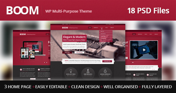 ThemeForest BOOM Multi-Purpose PSD Theme 3939191