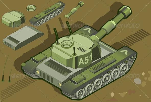 GraphicRiver Isometric Tank 3967943