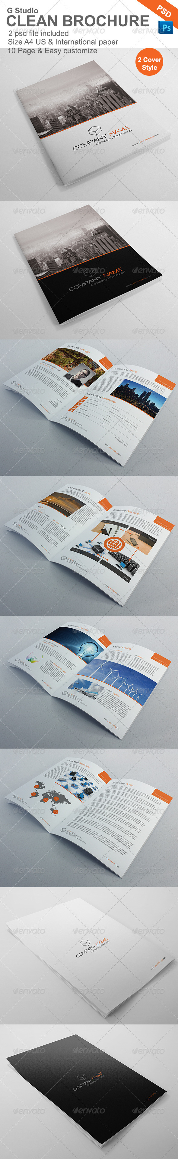 Gstudio Clean Brochure Template - Brochures Print Templates