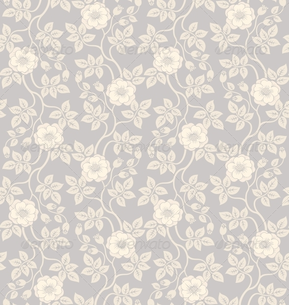 GraphicRiver Seamless Floral Background 3969612