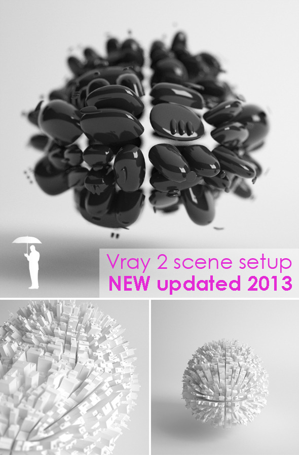 Studio scene setup for VRAY - 3DOcean Item for Sale