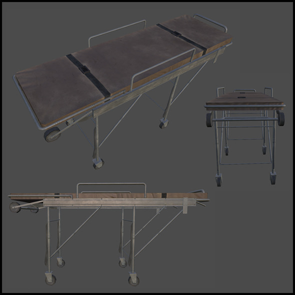 3DOcean Ambulance Stretcher 3969867
