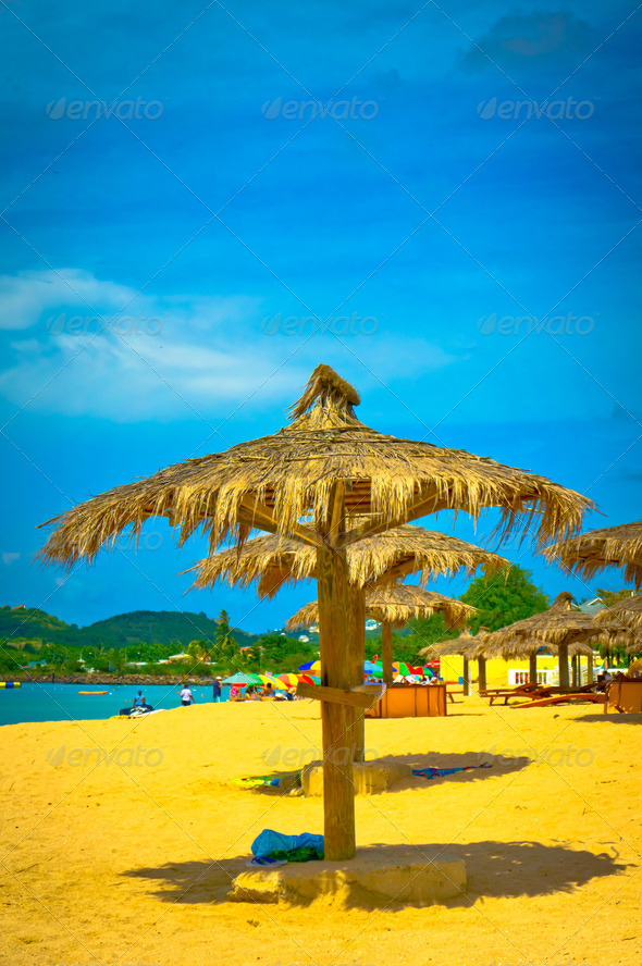 PhotoDune Beautiful beach in Saint Lucia Caribbean Islands 3969936