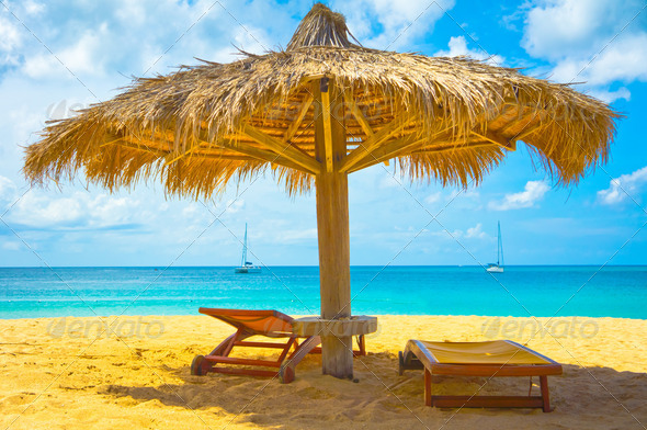 PhotoDune Beautiful beach in Saint Lucia Caribbean Islands 3969957