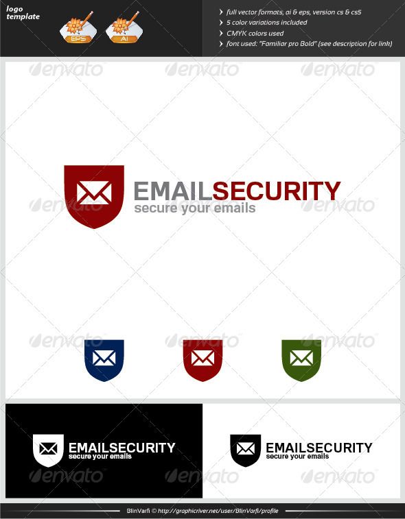 Email Security Logo Template - Symbols Logo Templates