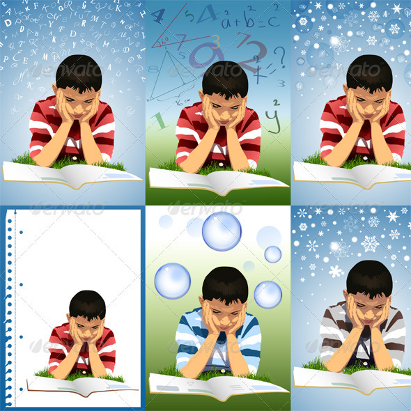 GraphicRiver Child and Reading 3971291