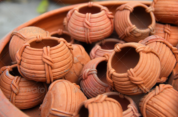 PhotoDune terracota clay Pottery 3987219