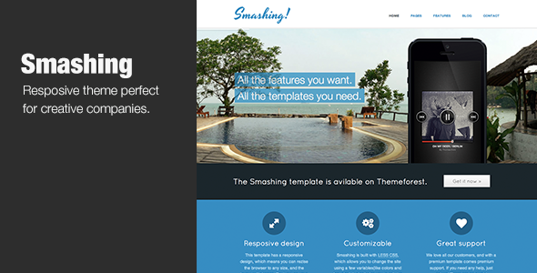 ThemeForest Smashing Theme Responsive HTML5 Theme 3961288