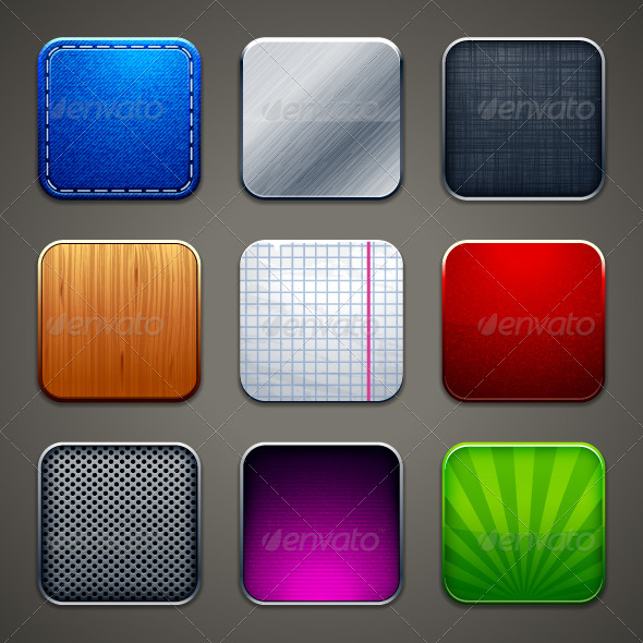 GraphicRiver Backgrounds for apps icons 3972246