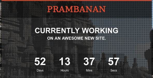 ThemeForest Prambanan Under Construction HTML Template 3972262