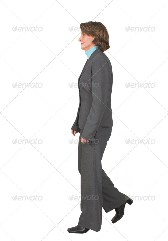 business woman walking - Stock Photo - Images