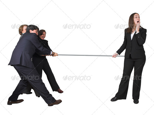 business teamwork competition - Stock Photo - Images