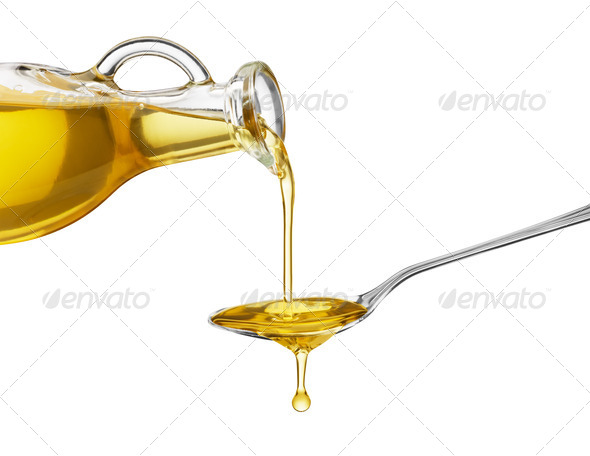 pouring oil - Stock Photo - Images