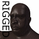 RIGGED Obese Black Man Base Mesh - 3DOcean Item for Sale