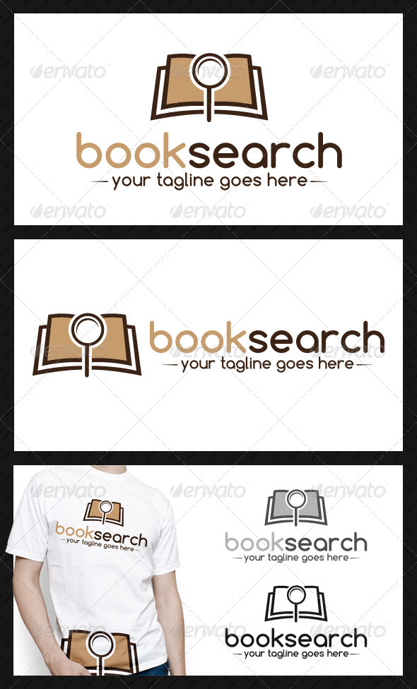 GraphicRiver Book Search Logo Template 3974626