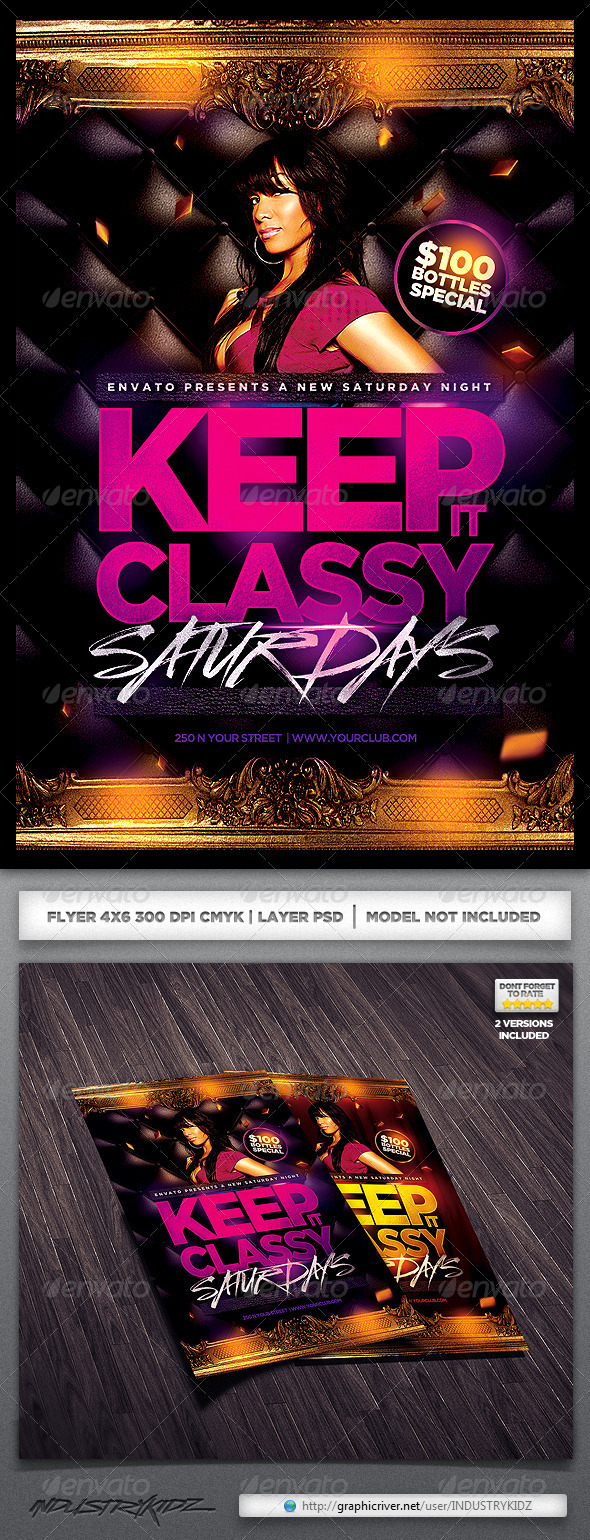 Keep it Classy Flyer  - Clubs & Parties Events