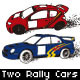 Two Rally Cars in Action - GraphicRiver Item for Sale