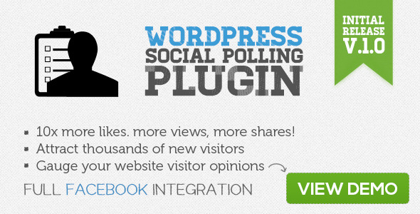 WordPress Social Polling Plugin - CodeCanyon Item for Sale