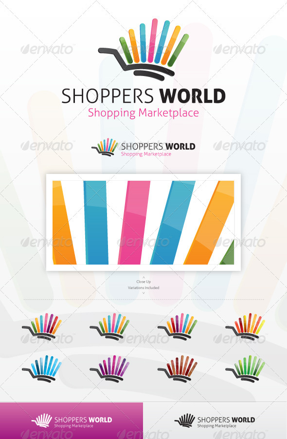 Shoppers World Logo - Vector Abstract