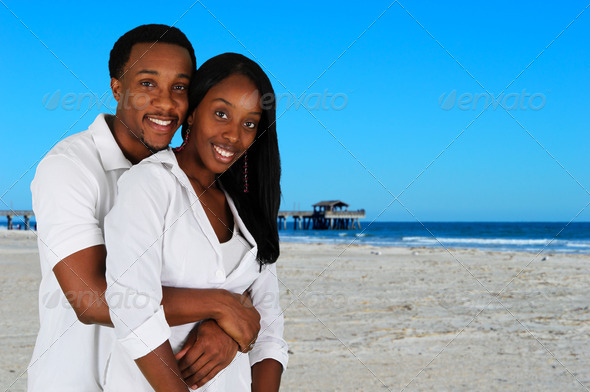Couple At Beach - Stock Photo - Images