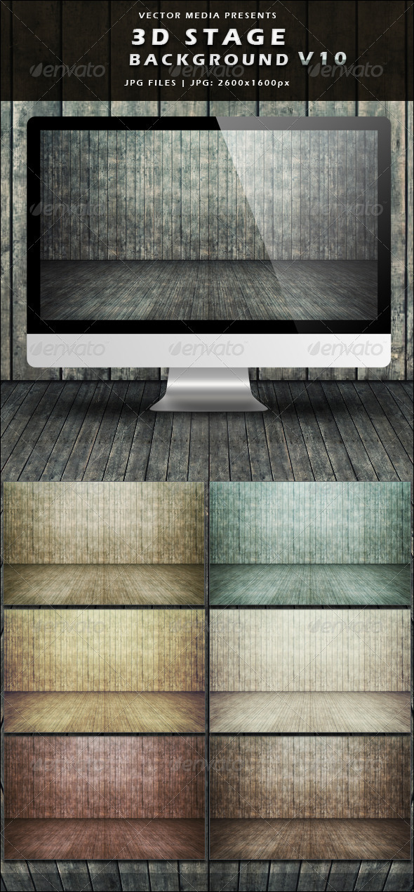 GraphicRiver 3D Stage Background Vol.10 3975678