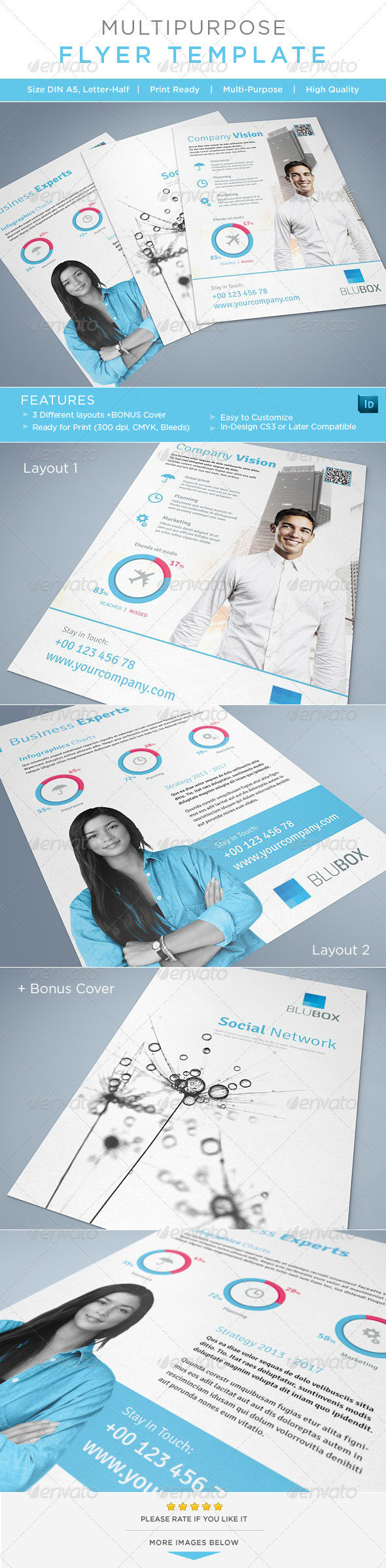 Multipurpose Flyer / AD Template - Corporate Flyers